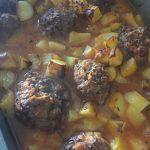Boulettes aux poivrons ( gaspacho) et cumin