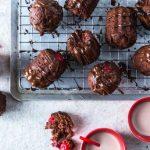 Dômes gourmands au chocolat et aux cerises vegan