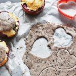 Cupcakes à l'amande et aux myrtilles vegan