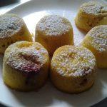 muffin moelleux pêches mirabelle à la semoule