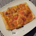 Tarte salée au jambon, tomates & mozzarella