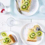 Gâteau moelleux au kiwi et aux graines de chia