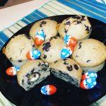 Muffin pépite de chocolat , kinder sans œufs et sans beurre