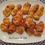 Sapins feuilletés à la crème de raclette