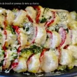 Gratin de pommes de terre et brocoli au chorizo