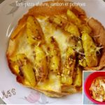 Torti-pizza chèvre, jambon et potatoes