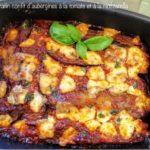 Gratin confit d'aubergines à la sauce tomate et à la mozzarella