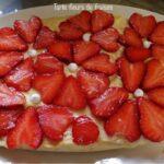 Tarte fleurs de fraises