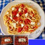 Pâtes, feta, tomates cerises, herbes de Provence