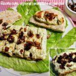 Ricotta cuite, oignons caramélisés et pain plat