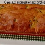 Cake aux asperges et aux girolles