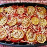 Gratin familial pommes de terre, viande hachée et tomates